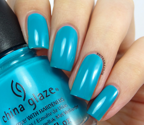 Nail polish swatch / manicure of shade China Glaze Wait n' Sea